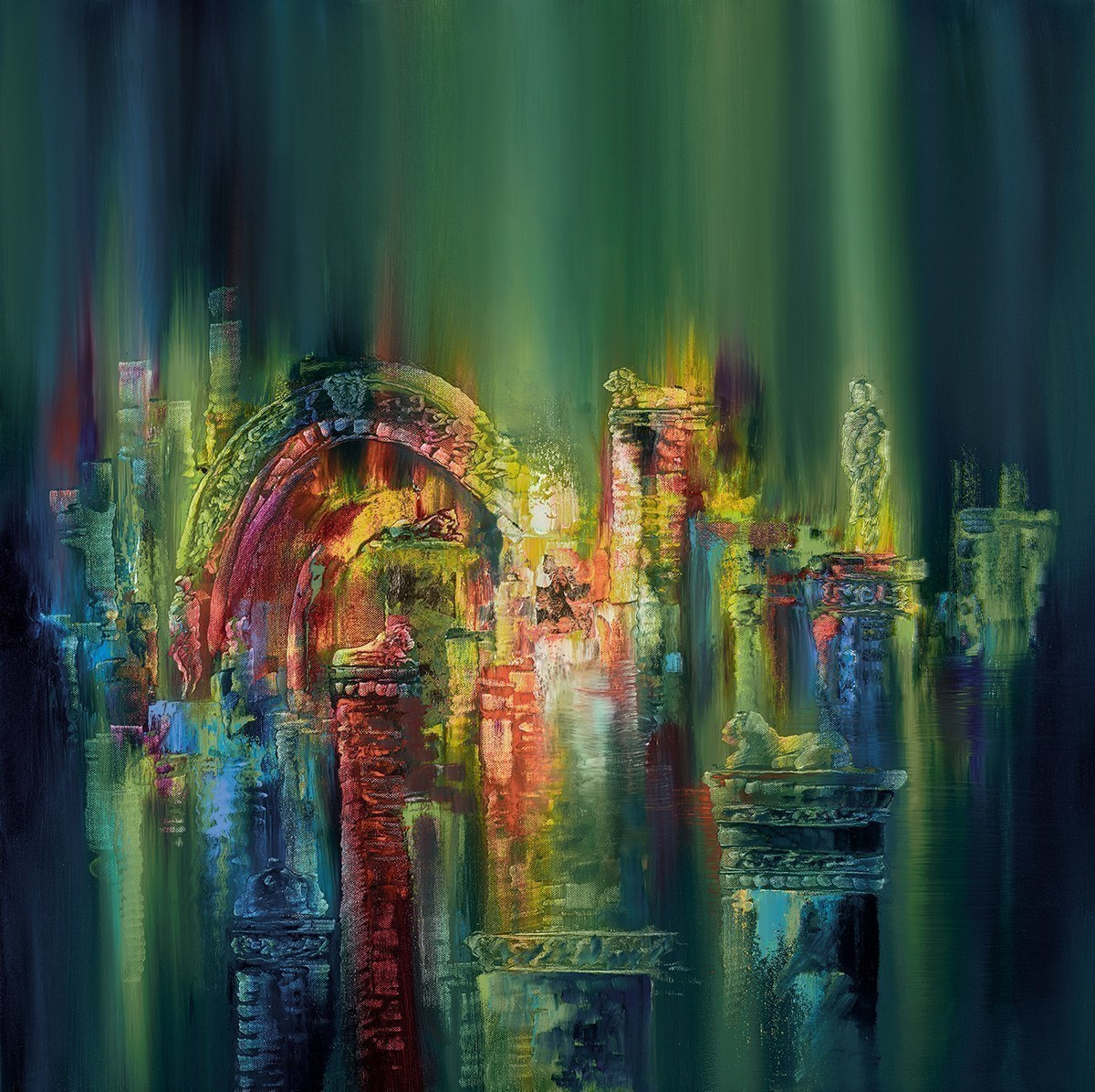 The Lost City by Philip Gray - Hand Finished Limited Edition on Canvas sized 20x20 inches. Available from Whitewall Galleries
